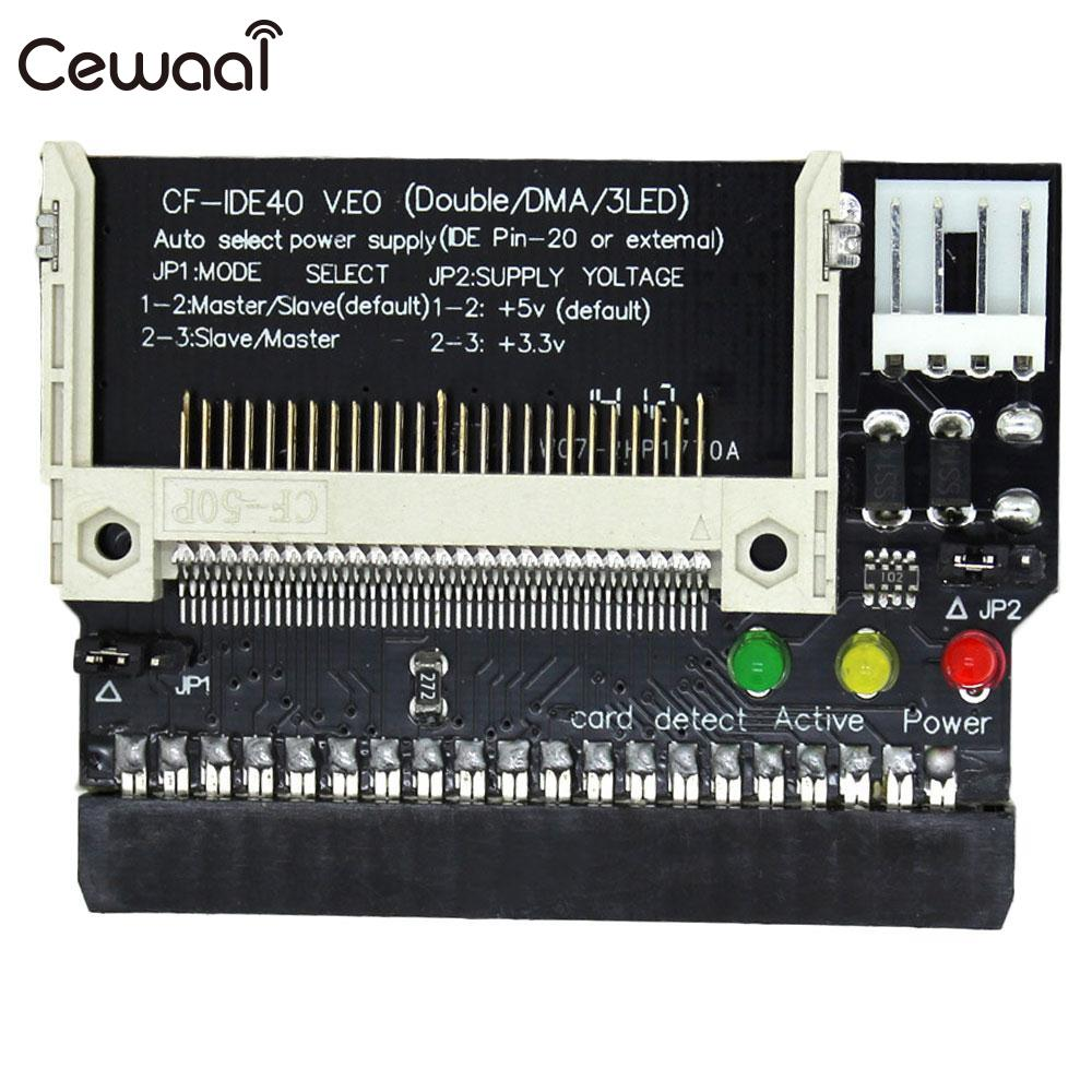 CEWAAL Compact CF To 3.5 40 Pin IDE Adapters Converter Kit General Purpose Computer
