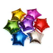 5pcs / lot 10inch Party Wedding Украшение Звезда Воздушные шары форма Foil Гелий Воздушные шары День рождения Свадьба Юбилей партии поставок