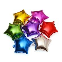5pcs / lot 10inch Party Wedding Decoration Star Balloons нысаны Фолий Helium Balloons туған күні үйлену мерейтойын Party Supplies
