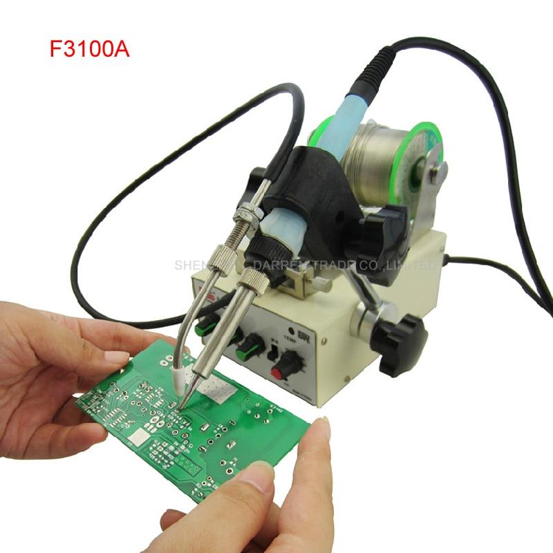 1 pz Macchina automatica di alimentazione in stagno a temperatura costante saldatore Teclast ferro F3100A saldatrice multifunzione a piede