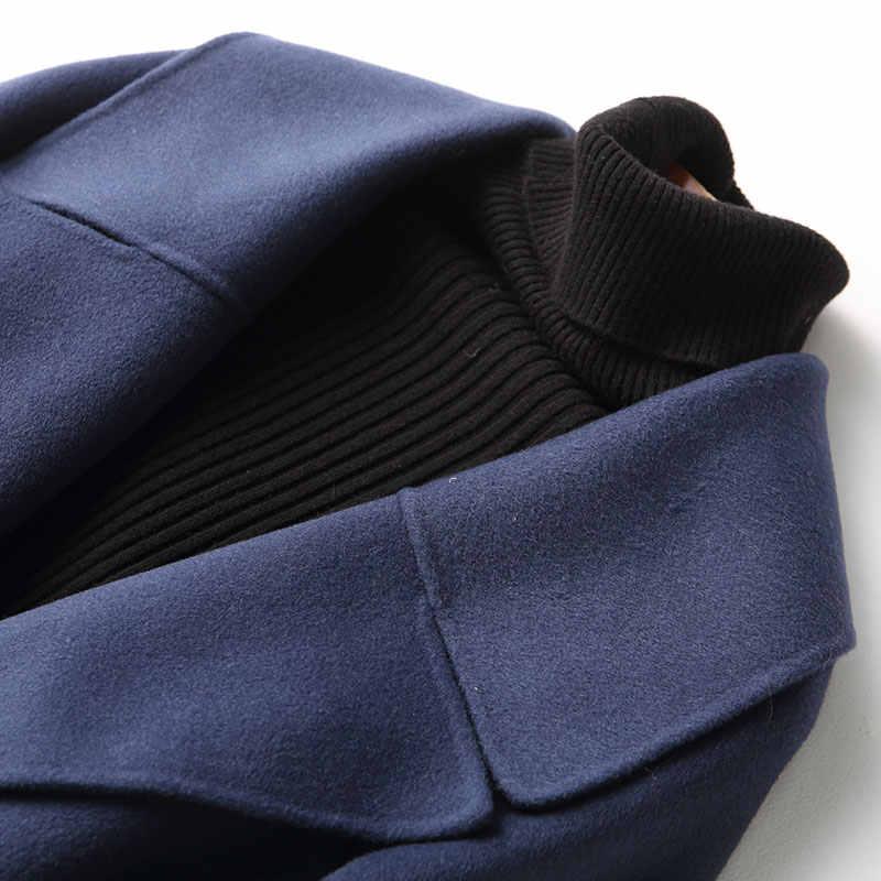 AYUNSUE осенне-зимнее пальто женское 2019 Новое 80% шерстяное пальто женское двойное шерстяное пальто Верхняя одежда manteau femme hiver 37125 WYQ1152