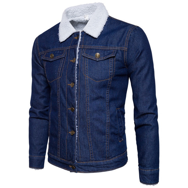 75eb91cae1c Men Jacket and Coat Trendy casual Warm Fleece Denim Jacket 2018 Winter  Fashion Mens Jean Jackets