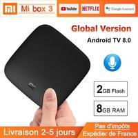Xiaomi Mi Box 3 Android TV 8.0 Smart Tv Box Support WiFi BT 4K Ultra HD 2G 8G Google Cast Netflix Xiaomi Mi TV Box Media Player