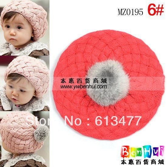 Winter  Keep Warm Knitted Hats For Boy/girl/kits Hats Set,scarves, Bug/bee  Infants Caps Beanine For Chilldren Mz0195-1pcs