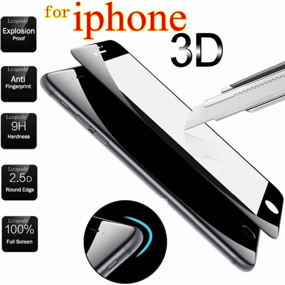 pelicula de vidro Screen Protection Tempered Glass For iPhone 6 6S plus sklo Film On For iPhone X 10 8 7 Plus glas case capa