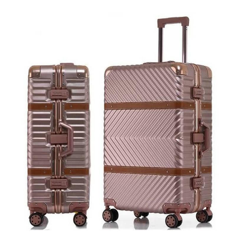 6 couleurs Vintage valise de voyage roulant bagages cuir décoration Koffer chariot TSA serrure valises sur roues roulant bagages