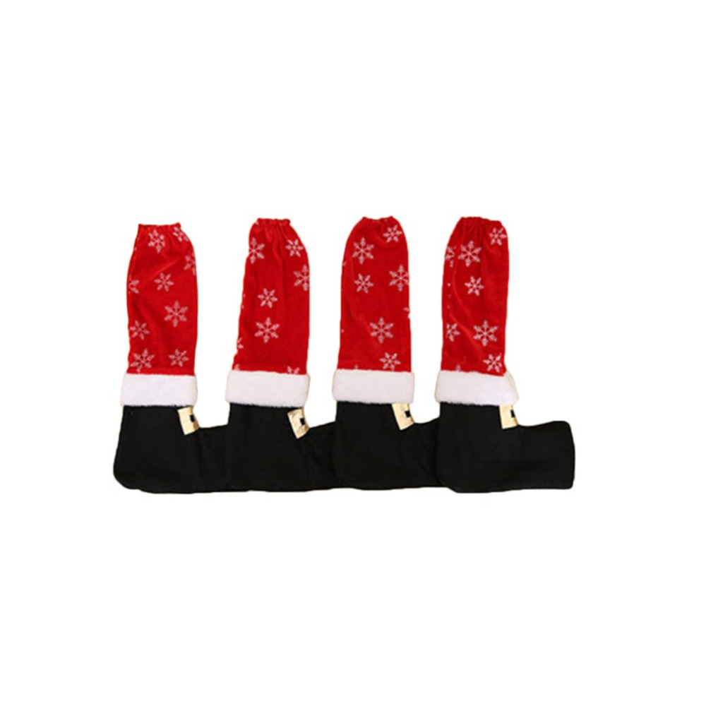 4Pcs/Set Christmas Tables Feet Cover Socks Sleeves Shoes Legs Party Festival Decorations Furniture Accessories Drop Shipping