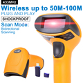 Wireless Laser Barcode Scanner Lector de Código de Barras Inalámbrico de Largo Alcance para PUNTO de VENTA y de Inventario-NT-2028