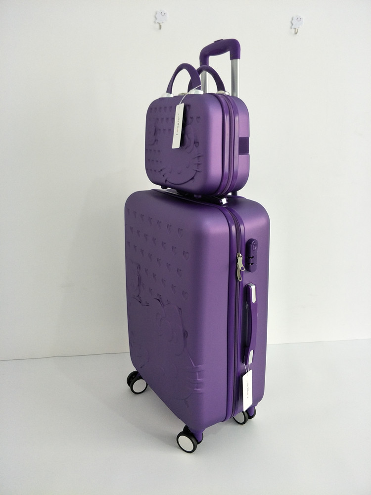 Color  pink  purple  light purple  green  blue  red  rose red. Luggage  Size  20
