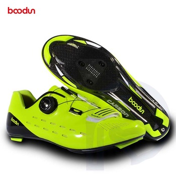 Road Cycling Shoes Style Black Green Bicycle Men Shoes Carbon Fiber Breathable Road Racing Self-locking Bike Shoe Wear-resistant