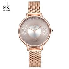 Shengke Rose Gold Women Style Ladies Wrist Watch Stainless S