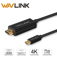 Newest Wavlink 1 8M USB 3 1 Type C To HDMI 4K UHD Cable With Gold