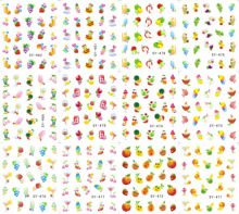 12 Sheets/Lot Art Nail SY471-482 Summer Fruits Nail Art Water Transfer Decal Sticker For Nail Tattoo(12 DESIGNS IN 1)