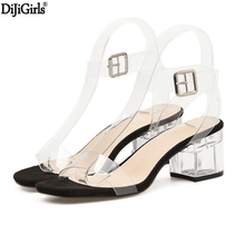 6cm Transparent Heels Womens Summer Shoes Sexy Gladiator Sandals Fashion Clear For Women