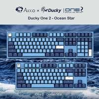 AKKO Cherry MX Switch Game Keyboard AKKO X Ducky One 2 Ocean Star 108 Key PBT Keycap Mechanical Gaming Keyboard Red Switch