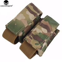 EMERSONGEAR LBT Style 40mm Double Pouch Hunting Military Airsoft Paintball Molle Pouch Combat Tactical Multicam Pouch