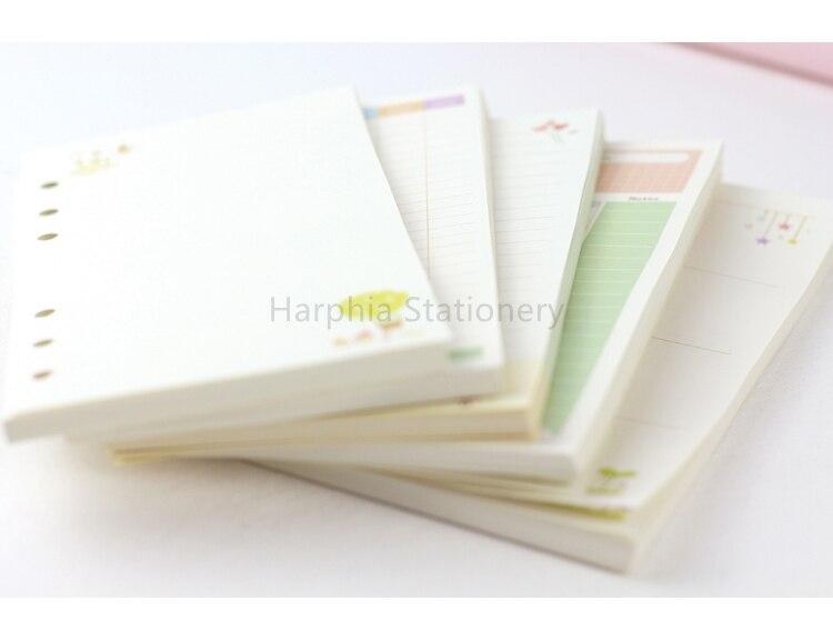 6 Hål Söt Kawai Färgrikt Löst Blad Spiralt Anteckningsblock - Block och anteckningsböcker - Foto 6