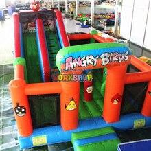 EN14960 изготовленные на заказ китайские воздушные игрушки для детей надувной батут горка комбо