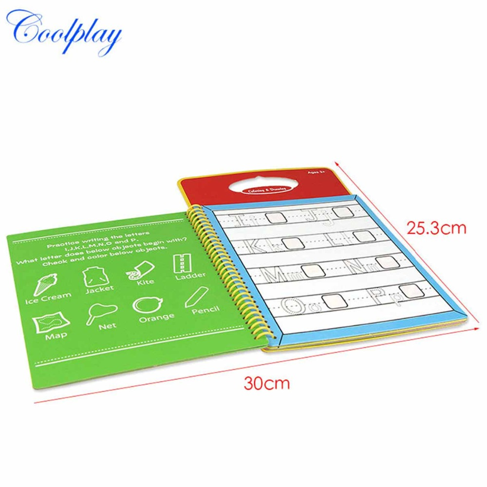 Funny Water Drawing Book Coloring Magic Pen Painting Board No Ink Book Doodle Children Kids Baby Education Learning Drawing Toys
