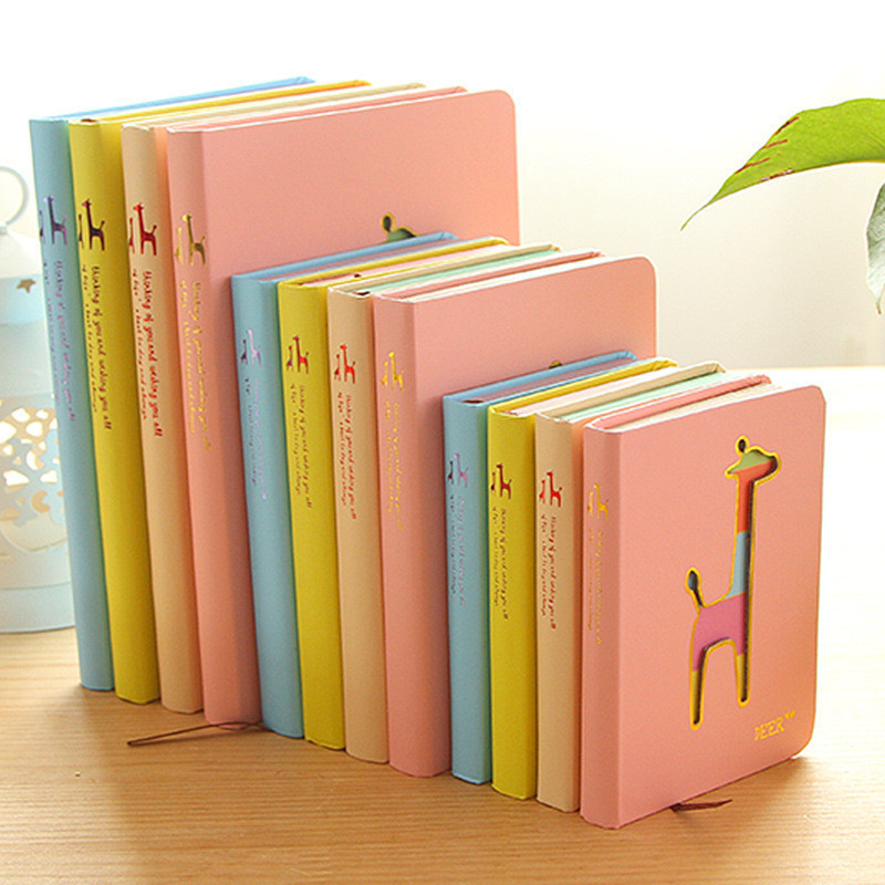 Yasaca Candy Color Notebook Korea Hard Notebook Deer Hollowed Notebook Mini Portable Notepad Cheap Office School Stationery Gift