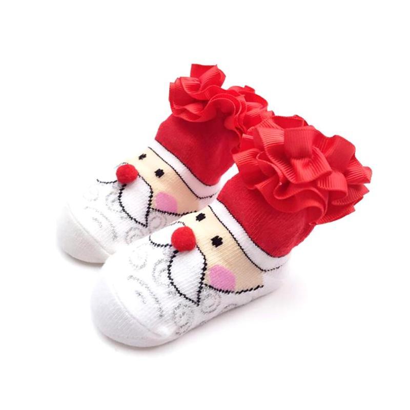 Sweet Toddler Girl Socks Baby Slippers Dots Princess Lace Soft Cotton Short Socks Christmas Gift baby Girl Socks D50