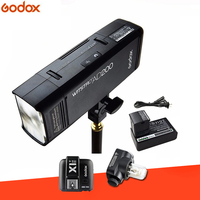 Godox AD200 TTL 2.4G HSS 1/8000s Pocket Flash Light Double Head 200Ws with 2900mAh Lithium Battery Strobe Flash for SONY