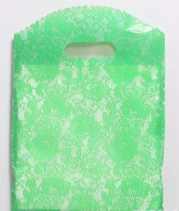 25pcs/lot Multi size Lace pattern Gift Bag Plastic Shopping Bags Jewelry Boutique Gift Clothing Packaging Plastic Bags