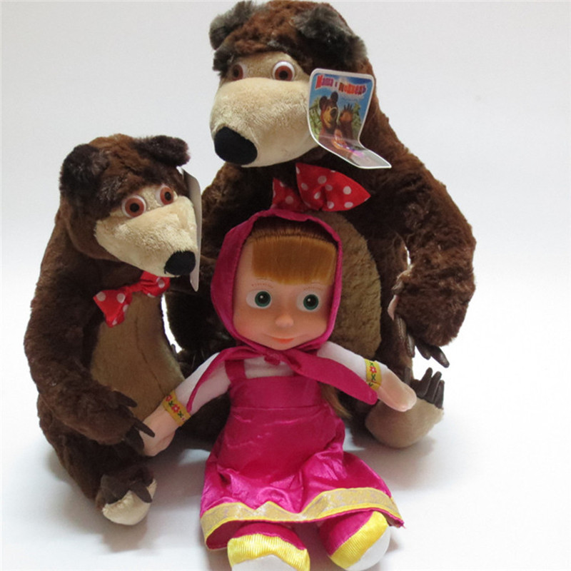 Russian Language Singing Bears Toy Girl Talking Russian Educational Dolls High Quality Stuffed Toys For Kids Children Gifts