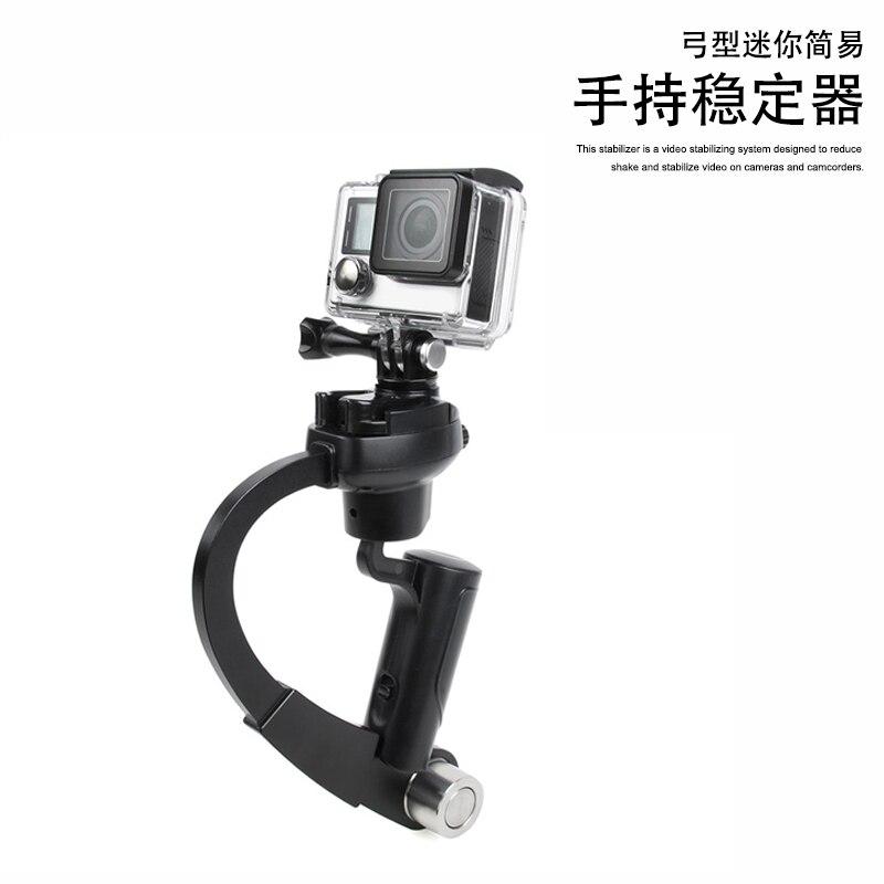 Support de support flash en forme de C poignée vidéo poignée de stabilisateur de poche pour DSLR SLR appareil photo téléphone Go pro Mini DV caméscope CD50
