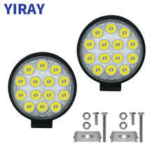YIRAY off road 42W led bar Work Light Bar For 24v 12v Car Accessories Spotlight 4X4 SUV Jeep Truck Boat Bus Lamp weketor