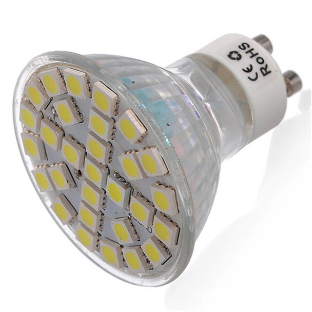 10 stkspartij 220 v 6 w gu10 hittebestendige klasse lichaam led lamp spotlight 5050