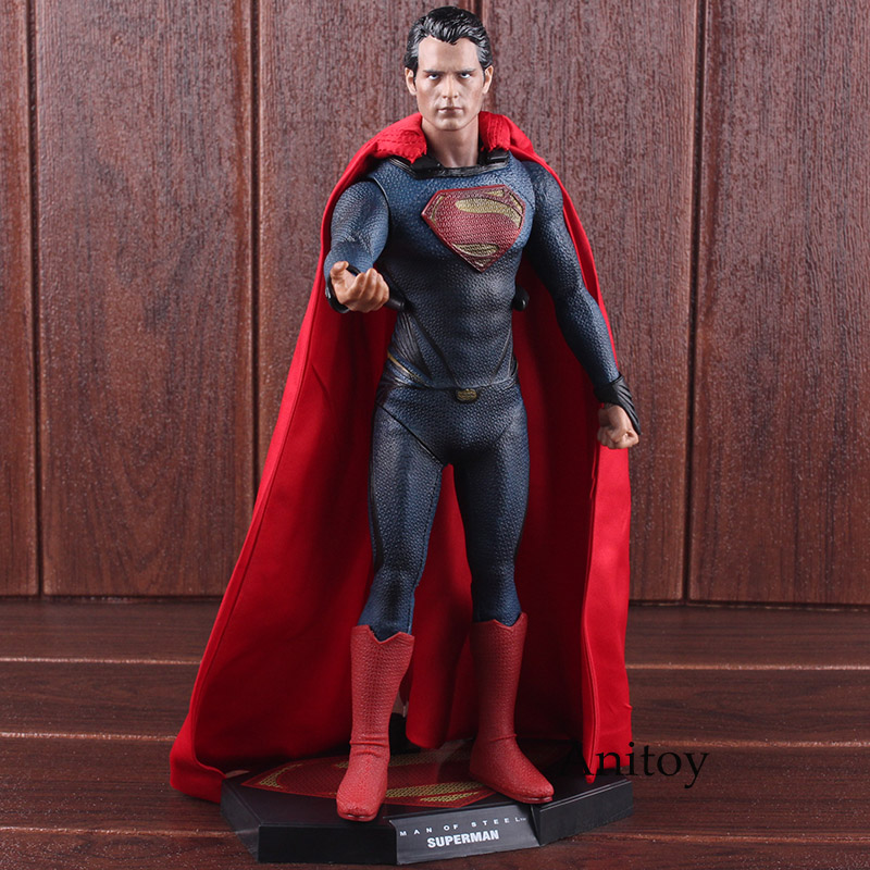 Superman 1/6 Scale Collectible Figure Collector's Edition PVC Superman Action Figure Collectible Model Toy 31cm