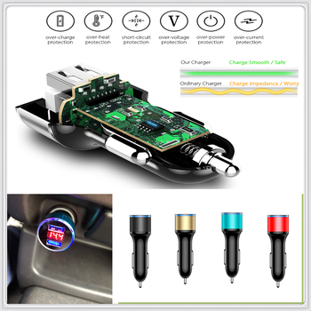Car Dual USB Charger 12-24V Cigarette Lighter Power Adapter for BMW all series 1 2 3 4 5 6 7 X E F-series E46 E90 F09 image