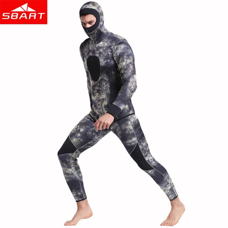 SBART Underwater Thick Warm Men Neoprenanzug mit Kapuze, 3 mm, - Sportbekleidung und Accessoires - Foto 4