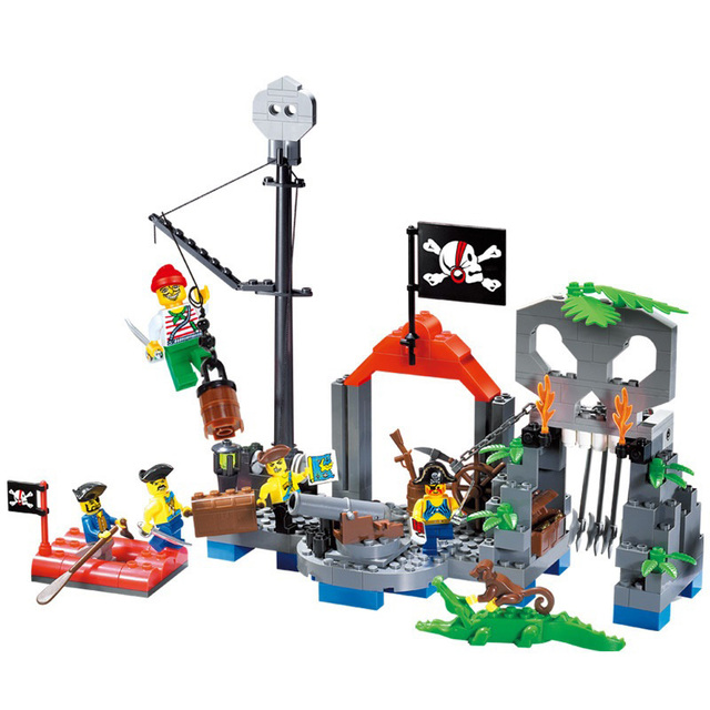 models building toy 309 206pcs pirate boat building blocks compatible with lego pirate series toys - Lego Pirate