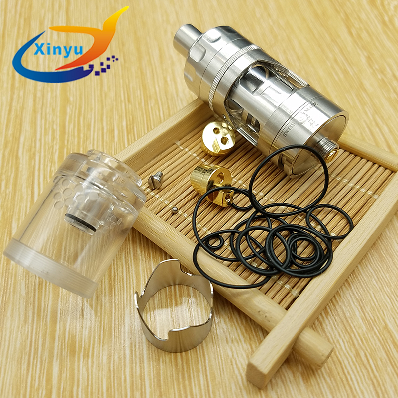 Hurricane V2 RTA 316 Stainless Steel 4ml Atomizer E-cigarette Adjustable  Airflow Hurricane RBA Atomizer Fit 510 Vaporizer Mod