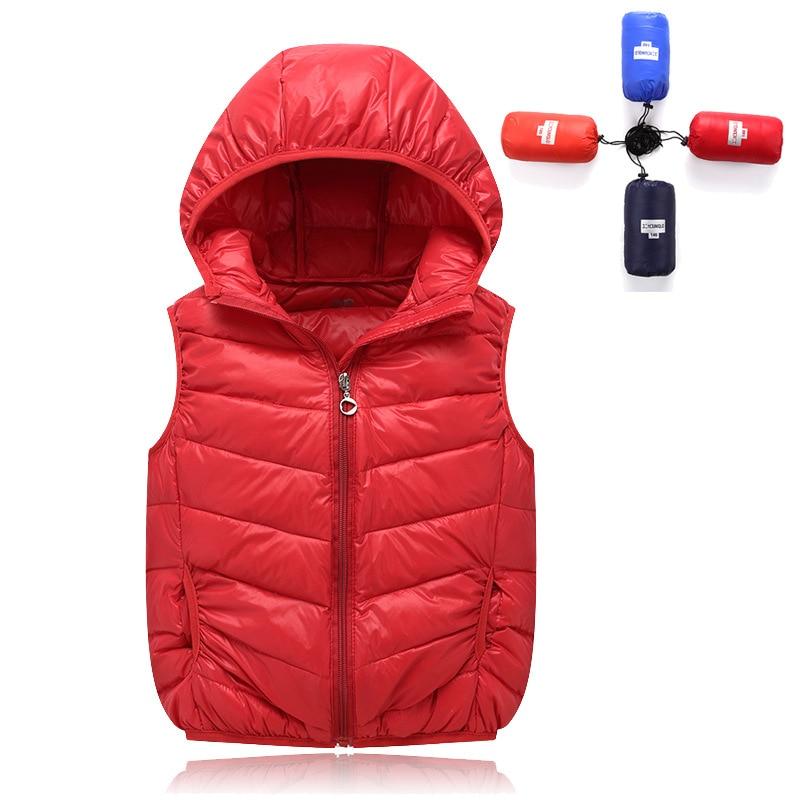 2016 yeni sonbahar/kış çocuk yelek kız ve erkek çocuk aşağı ceket çocuklar ceket parka 3-12 yaş çocuklar sonbahar giyim