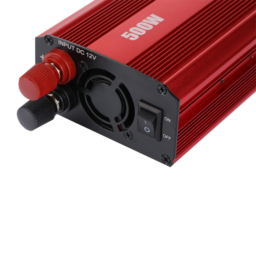 500W Car Inverters Charge 50Hz DC 12V/24V to AC 110V/220V Peak Modified Sine Wave Car Power Inverter Charger Converter