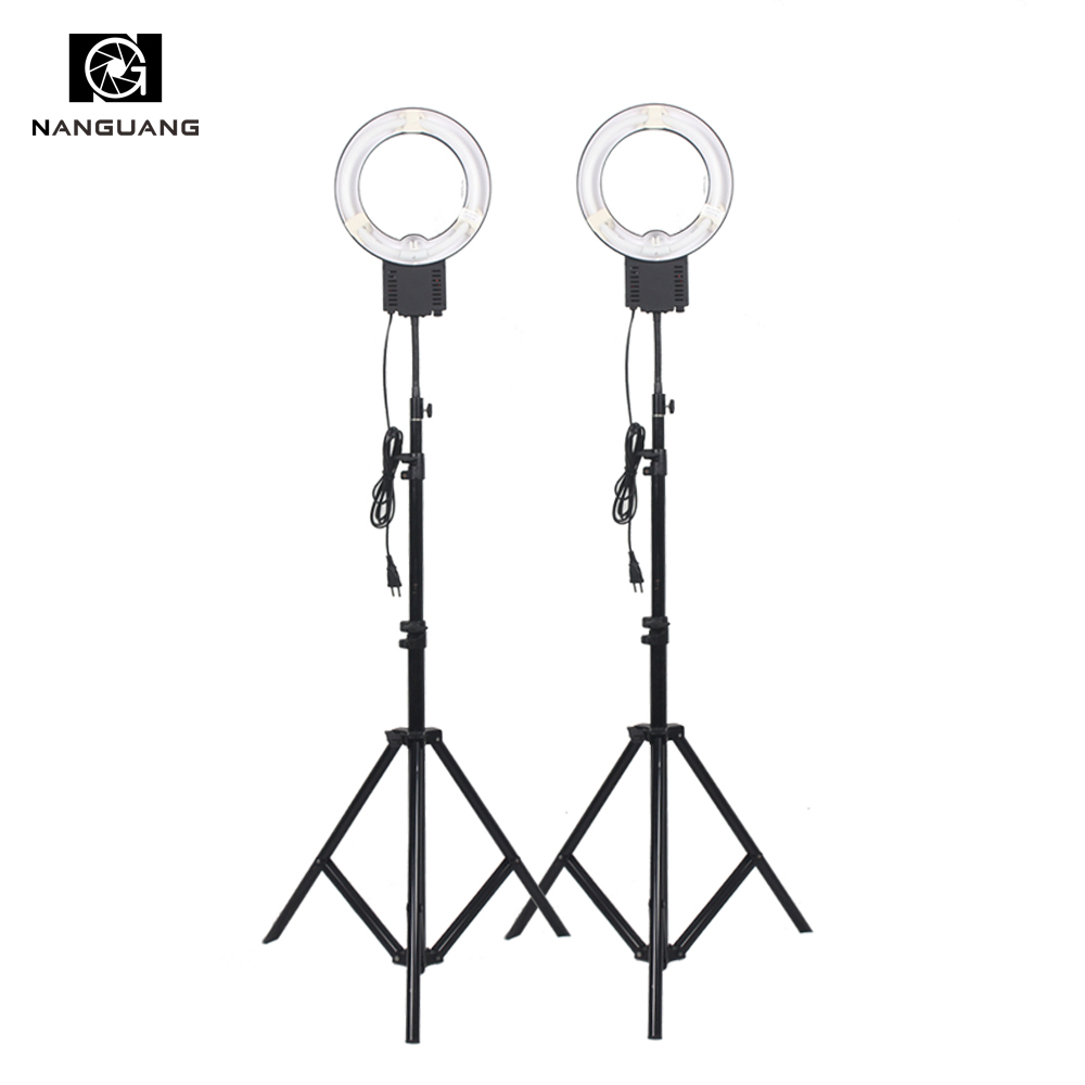2PCS/set 5400K 28W Fluorescent Ring Lamp NG-28C+200cm Tripod Stand for Camera Photo Studio Video Lighting Photography Ring Light