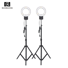 2PCS/set 5400K 28W Fluorescent Ring Lamp NG-28C+200cm Tripod Stand for Camera