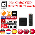 Android TV Box T95N German IPTV 2200+ Channels Netherlands Turkish Spain Portaguese Albanian IPTV Adult Hot Club&VOD 1GB/8GB