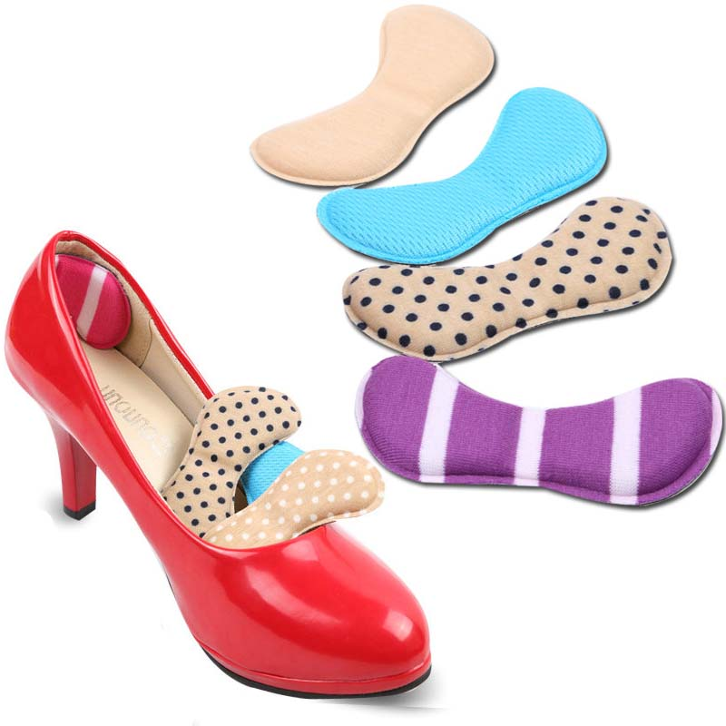 6 Pairs Shoes Insoles For Flatfoot Anti Slip Cushion Pads Protector For Heels Rubbing Shoes Insoles Insert Foot Care