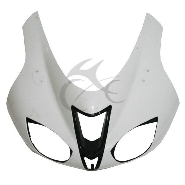 Motorcycle Unpainted White Upper Front Fairing Cowl Nose For Kawasaki ZX6R ZX-6R 2007-2008 abs unpainted upper front fairing cowl nose for suzuki gsxr600 gsxr 750 2006 2007