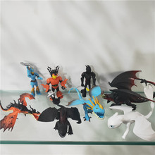8cm 8 Pcs/set Dragon WhiteToothless Action Figure Light Fury Toothless Toys for Childrens Birthday Gifts