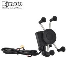 Bjmoto Universal Motorcycle Scooter rear view mirror mount Mounting Adjustable Phone Holder font b Smartphone b
