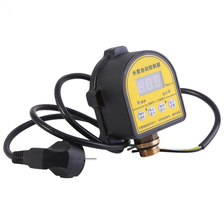 220V Water Pump Switch Digital LCD Water Pump Pressure Control Switch Automatic Eletronic Pressure Controller ON OFF Switch new and original dpa01m p delta pressure switch pressure gauge switch digital display pressure sensor