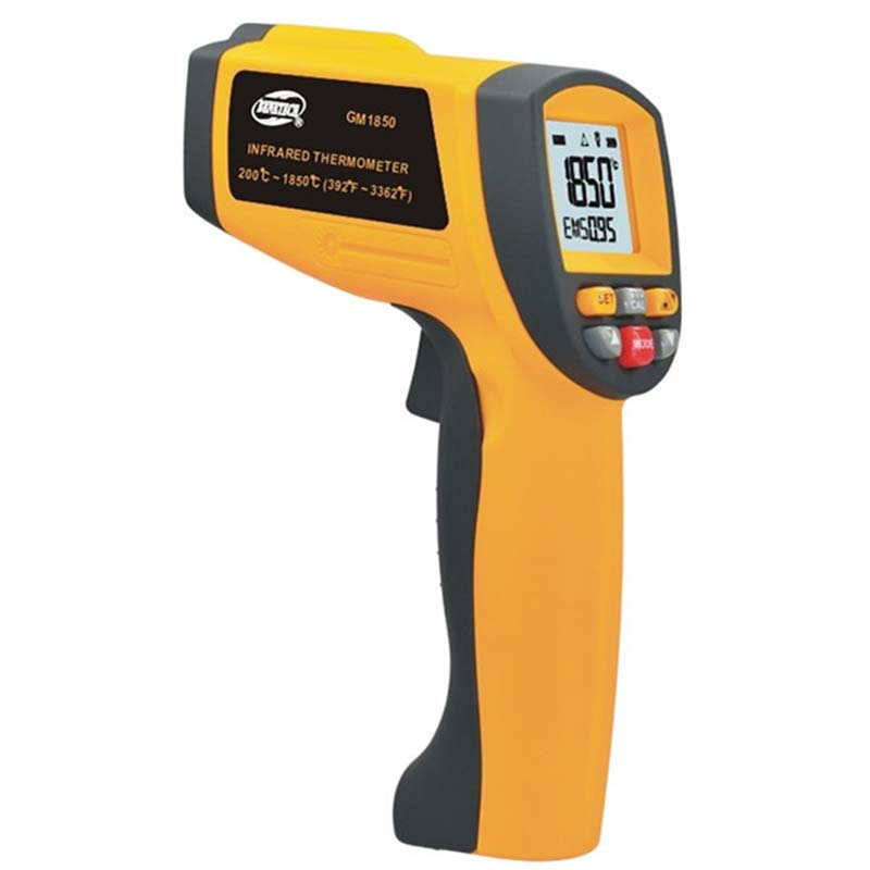 Digital GM1850 Non-contact LCD display infrared thermometer 200 to 1850 degree temperature measuring gun With carry box maisto 1959 cadillac eldorado biarritz 1 18 scale alloy model metal diecast car toys high quality collection kids toys gift