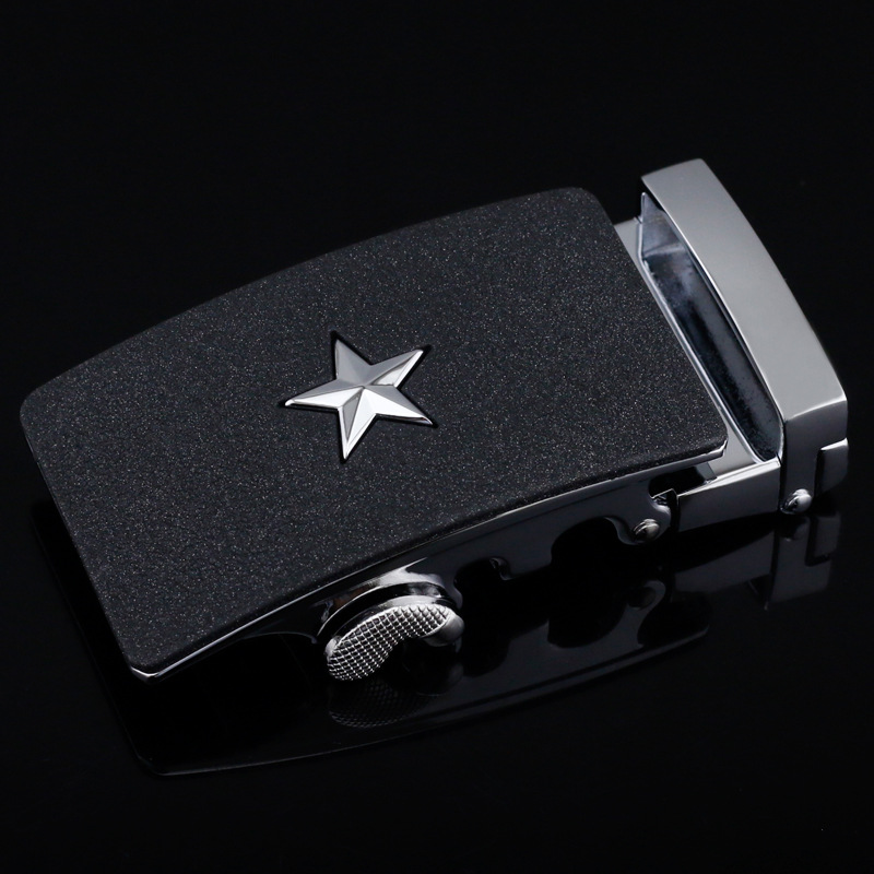 High Quality Star Automatic Belts Buckles Men's Belt Buckle Suit For 3.5cm Automatic Belts Accessories CE25-0843