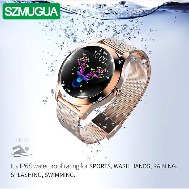 SZMUGUA Bluetooth montre intelligente femmes IP68 étanche surveillance de la fréquence cardiaque Fitness femme Bracelet Bracelet intelligent