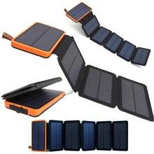 Складная солнечная панель KERNUAP, 12 Вт, 10 Вт, солнечная батарея, 30000 мА/ч, солнечная батарея, универсальный внешний аккумулятор для телефонов, зарядное устройство на открытом воздухе